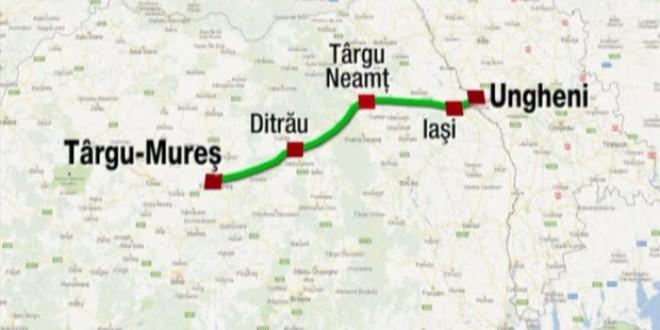 Revizuirea studiului de fezabilitate pentru autostrada Târgu-Mureş – Iaşi