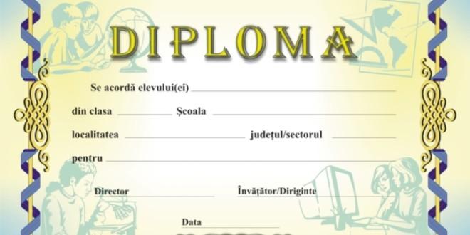 Diplomele care însoţesc premiile acordate elevilor pot fi redactate şi în limba maternă de predare a claselor