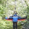 Exerciţii ale jandarmilor montani de salvare a turiştilor, jocuri şi cântece cercetăşeşti în Cheile Bicazului