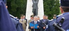 Imnul României a fost intonat în centrul Municipiului Miercurea-Ciuc