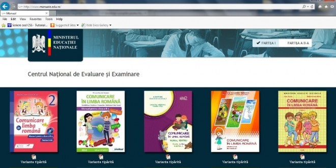 Noile manuale pentru clasele I şi a II-a pot fi descărcate gratuit de pe site-ul MEN