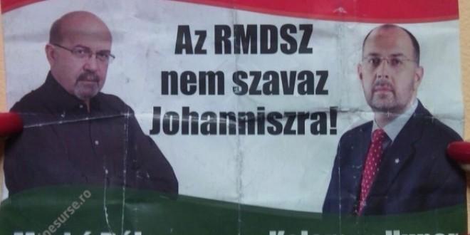 UDMR depune sesizări pentru pliante în maghiară împotriva lui Iohannis