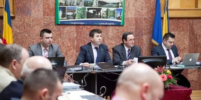 Şedinţa extraordinară a Consiliului Judeţean Harghita