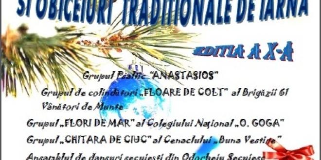 Concert de colinde şi obiceiuri tradiţionale de iarnă, ediţia a X-a