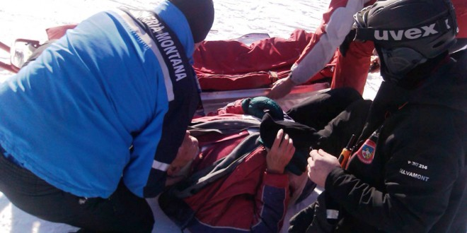 Jandarmii montani și salvamontiștii au intervenit la două accidente pe pârtia din Borsec