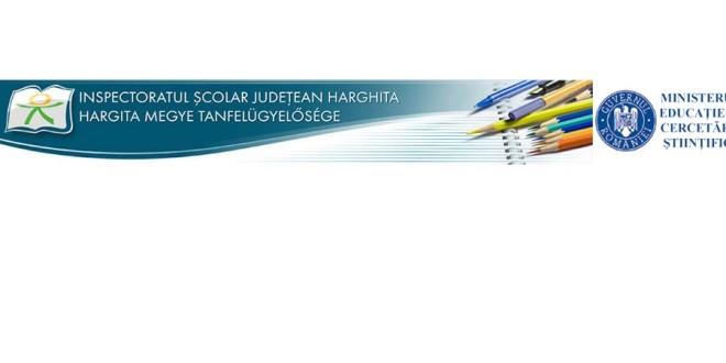 Anunț organizare concurs pentru ocuparea funcțiilor vacante de director și de director adjunct din unitățile de învățământ de stat din județul Harghita