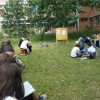 """Sală de clasă în natură, amenajată la Colegiul Naţional """"Octavian Goga"""""""