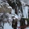 Cascada cu apă termală din Topliţa, pusă în valoare