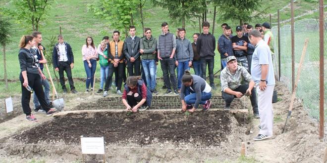 Au fost create condiţii optime pentru desfăşurarea orelor de practică de către liceenii de la clasele de silvicultură din Corbu