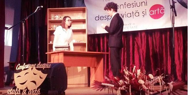 """Festivalul de teatru şcolar """"Confesiuni despre viaţă şi artă"""""""