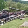 La Monumentul-Mausoleu de la Gura-Secului: Salve de mitralieră în semn de respect şi recunoştinţă pentru eroii care s-au jertfit pentru neam şi ţară
