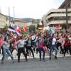Sute de elevi din Miercurea Ciuc au participat la manifestările organizate în centrul municipiului cu ocazia Zilei Europei