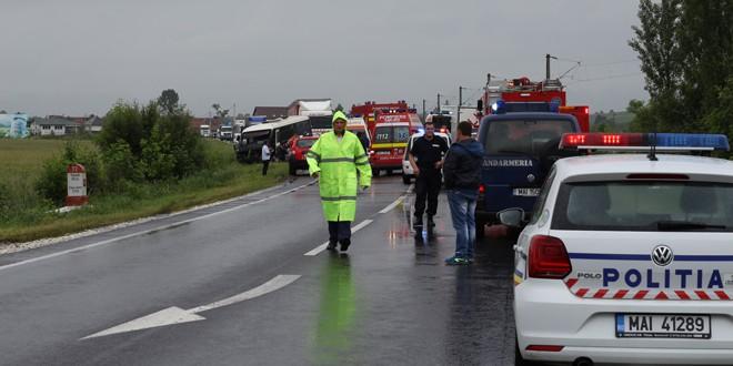 A fost activat planul roşu de intervenţie după un accident deosebit de grav între Miercurea Ciuc şi Sâncrăieni