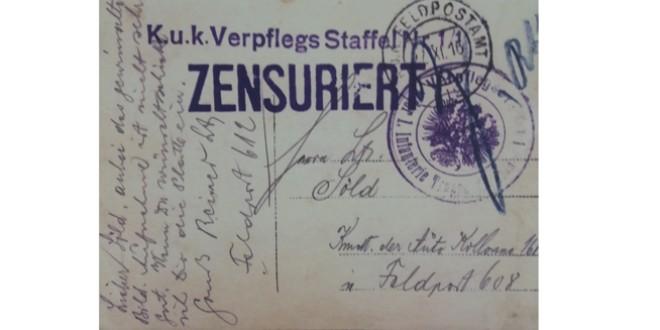 Epistole din Primul Război Mondial
