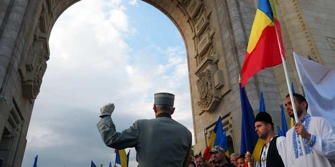 Marş în Capitală cu prilejul împlinirii a 100 de ani de la intrarea Armatei Române în Budapesta şi eliberarea Ungariei de regimul bolşevic