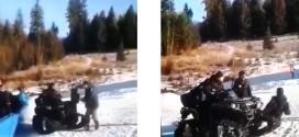 Imagini cu incidentul de la pârtia de schi din Toplița