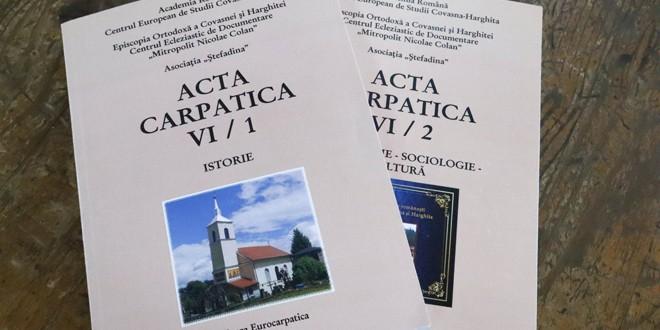 Anuarul <i>Acta Carpatica VI</i> – o operă cultural-ştiinţifică remarcabilă