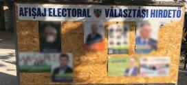 <h5><i>În urma unei sesizări a PSD</i></h5> Biroul Electoral de Circumscripţie Miercurea Ciuc a decis ca o parte din afişele electorale de pe panouri să fie înlăturate