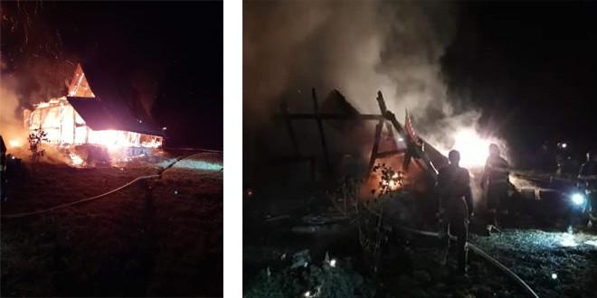 Un bărbat a decedat într-un incendiu izbucnit, cel mai probabil, în urma exploziei unor butelii