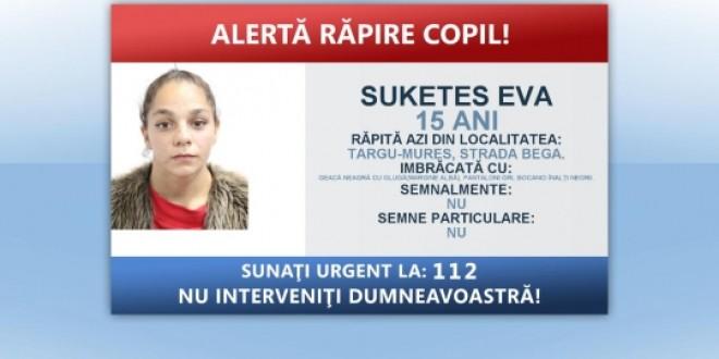 Fata de 15 ani din Odorheiul Secuiesc pe care autoritățile o credeau răpită a fost adusă la poliție de unchiul său