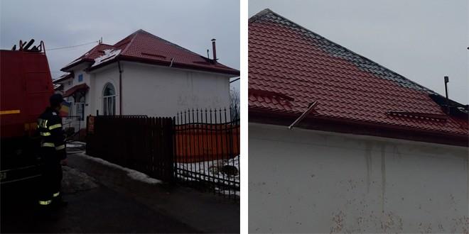 Incendiu la acoperişul Şcolii Primare din Moglăneşti, Topliţa