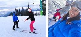 """<h5><i>Andreea Cotfas, monitor de schi la Topliţa:</i></h5> """"Mă emoţionează reuşitele cursanţilor mei"""""""