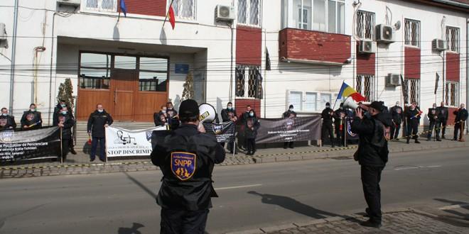 Protest al lucrătorilor de penitenciare, în Miercurea Ciuc