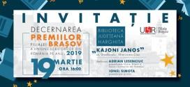 <h5><i>Vineri, la Biblioteca Judeţeană Harghita: </i></h5>Decernarea premiilor Filialei Braşov a Uniunii Scriitorilor din România