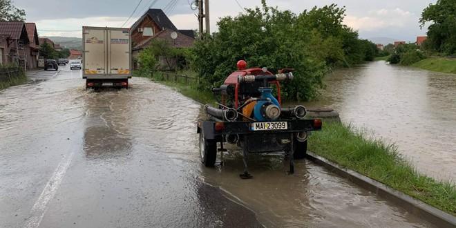 Subsoluri inundate în Odorheiu Secuiesc