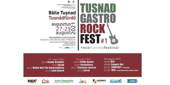<h5><i>La sfârşitul lunii august, sub Piatra Şoimilor:</i></h5> Tuşnad Gastro Rock Fest
