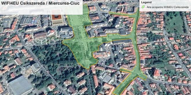 WIFI gratuit în centrul municipiului Miercurea Ciuc, un nou pas spre un oraş inteligent