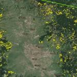 tăieri rase din perimetrul bazinului Gheorgheni (munţii din Vestul şi Estul localităţilor Sărmaş – Subcetate – Ditrău – Remetea – Lăzarea – Joseni – Gheorgheni)