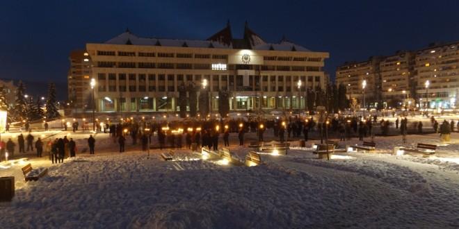 Aproximativ 2.000 de oameni la parada militară din Miercurea-Ciuc