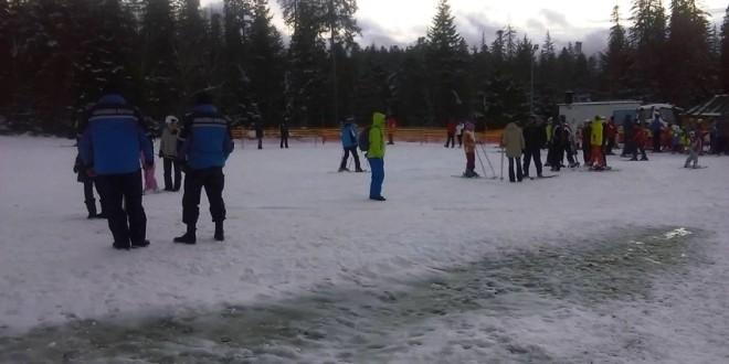 Jandarmii montani au intervenit pentru ajutorarea unui turist pe pârtia din Borsec