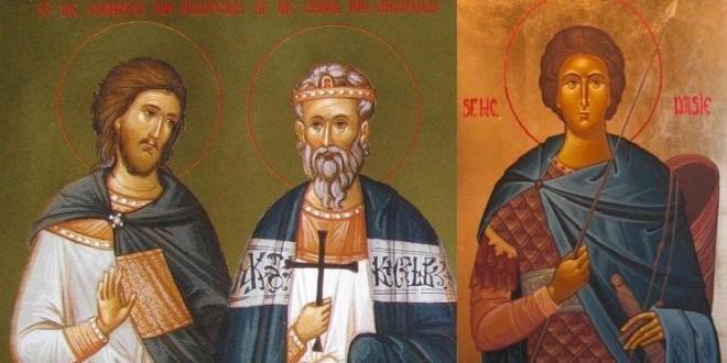 Sfinţi români şi protoromâni: Sfinţii Chiril, Chindeu şi Tasie