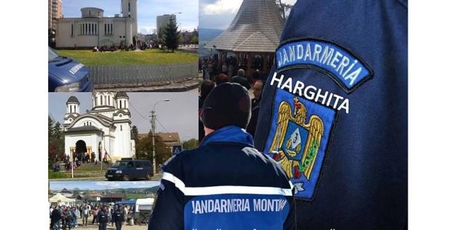 Jandarmerii harghiteni la datorie de 1 Mai și Sf. Paști