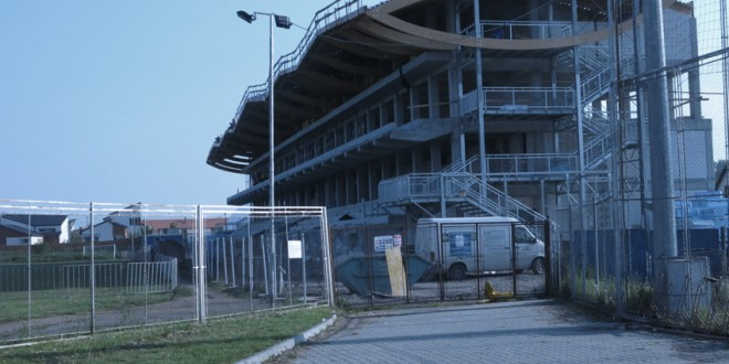 Amenajări exterioare în zona Stadionului municipal Miercurea-Ciuc