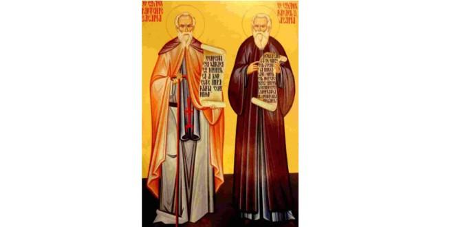 Sfinţi români şi străromâni: Sf. Cuv. Rafail şi Partenie de la Agapia