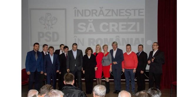 Caravana electorală a PSD la Topliţa