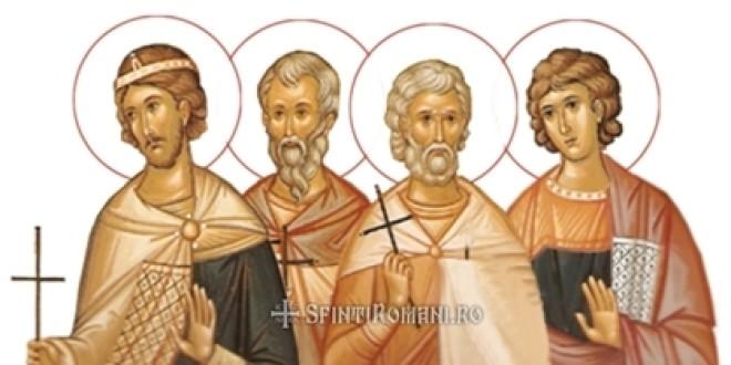 Sfinţi români şi protoromâni: Sf. Mucenici Claudiu, Castor, Sempronian şi Nicostrat
