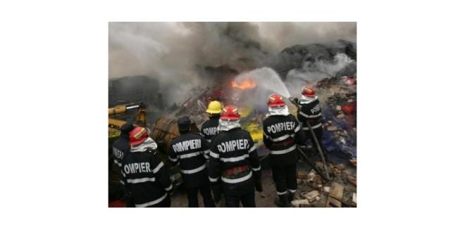 Ciumani: Incendiu puternic la o firmă de prelucrare a lemnului