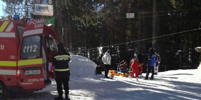 Fetiță de 9 ani, accidentată la Harghita Băi