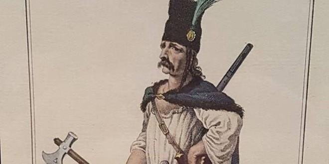 O gravură veche de peste două secole, cu Crişan, liderul răscoalei din 1784, expusă la Alba Iulia