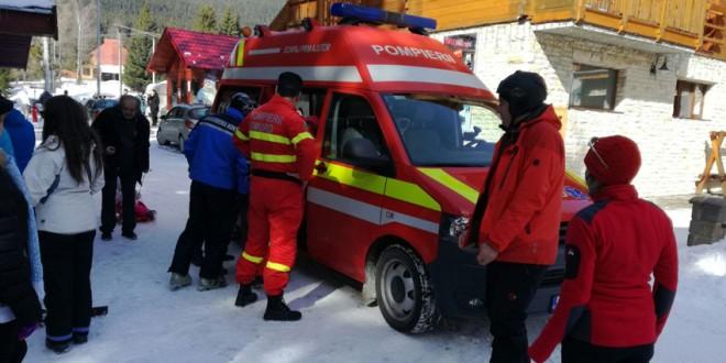 Jandarmii montani și salvamontiștii au intervenit pe o pârtie de la Harghita Băi pentru a acorda ajutor unor copii