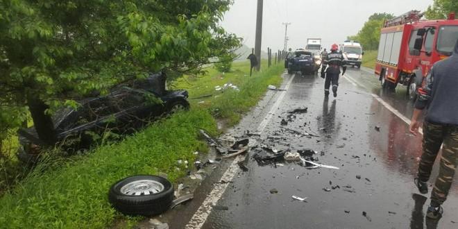 Accident rutier soldat cu rănirea a 5 persoane, în apropiere de Odorheiu Secuiesc