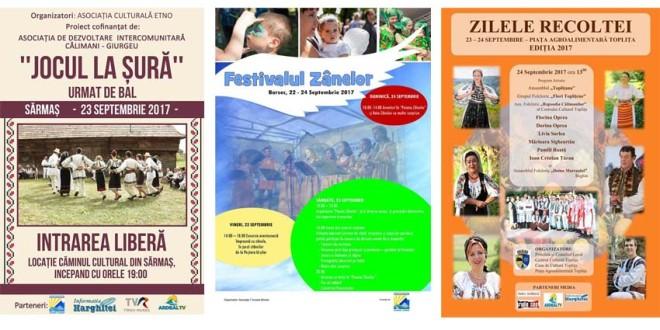 În acest sfârșit de săptămână, în zona de nord a județului au loc mai multe evenimente tradiționale