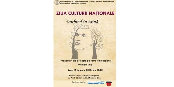 Evenimente dedicate Zilei Culturii Naționale