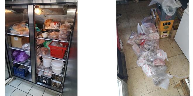 Aproximativ 200 de kg de carne și alte produse, confiscate