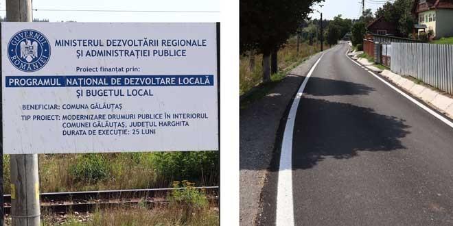 <h5><i>De vorbă cu primarul Radu Ţăran despre Gălăuţaş (I)</i></h5>În ultimii 7 ani, în comuna de pe Mureş s-au asfaltat aproximativ 15 km de drumuri, cele mai recente fiind finalizate în această vară