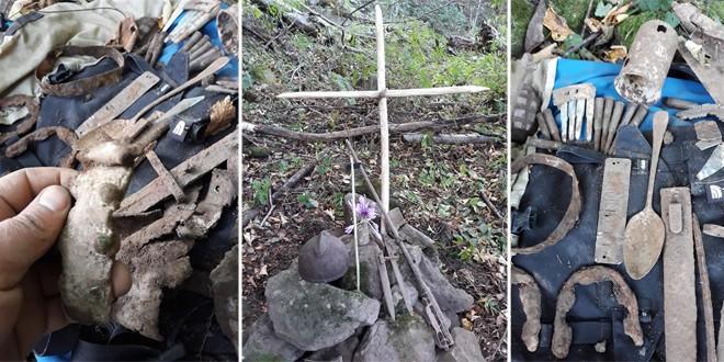 Rămăşiţele unui soldat român din Primul Război Mondial, descoperite în apropiere de Cimitirul Internaţional al Eroilor de la Valea Uzului